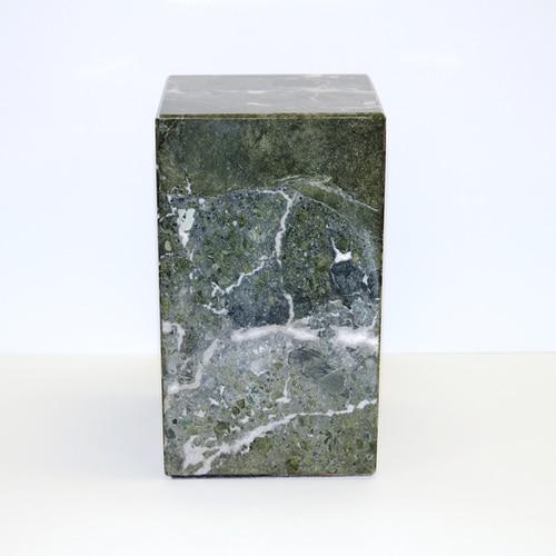 marbre vert - Laiton gravé- Oiseau du paradis